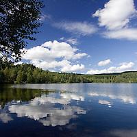 Idyllic image of Sognsvann lake, Oslo, Norway.