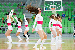 Dragon Ladies during basketball match between KK Union Olimpija Ljubljana and BC Maccabi Fox Tel Aviv (ISR) in 5th Round of EuroCup LAST32, on February 3rd, 2016 in Arena Stozice, Ljubljana, Slovenia. Photo by Urban Urbanc/ Sportida