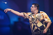 Jose De Sousa during the PDC William Hill World Darts Championship at Alexandra Palace, London, United Kingdom on 17 December 2019.