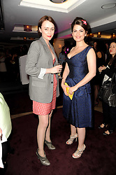 Left to right, KEELEY HAWES and HAYLEY ATWELL at a party to promote Marie Claire magazine Inspire & Mentor Campaign held at The Loft, The Ivy Club, West Street, London on 30th March 2010.