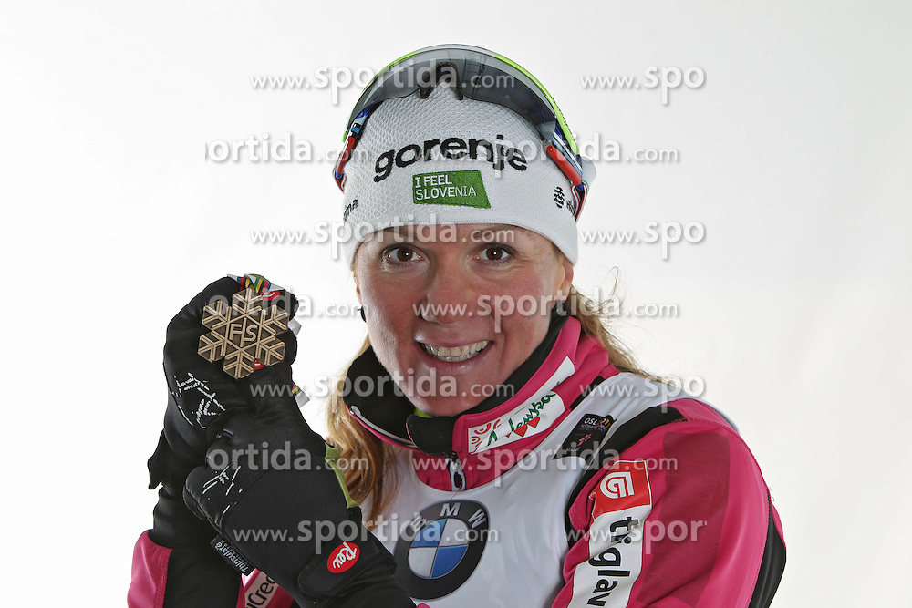 24/02/2011  OSLO 2011 - FIS NORDIC WORLD SKI CHAMPIONSHIPS.MAJDIC Petra get the bronze medal on the ladies sprint race..© Photo Pool / Pierre Teyssot / Sportida.com.