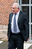 Dominique Strauss-Kahn quitte son h&ocirc;tel apr&egrave;s le d&eacute;jeuner, dans le cadre du proc&egrave;s de prox&eacute;n&eacute;tisme aggrav&eacute; dit de &quot;l'affaire du Carlton&quot;. Le 18 f&eacute;vrier 2015 <br /> Dominique Strauss-Kahn leave the hotel after eating , in the northern French city of Lille to attend a session on the third week of the so-called &quot;Lille Carlton Hotel Case&quot; trial. On february 17th 2015