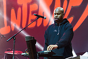 Matt Martians of the band The Internet performs during the Summer Spirit Festival at Merriweather Post Pavilion in Columbia, Md on Sunday, August 6, 2017.