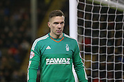 Nottingham Forest goalkeeper Dorus de Vries  during the Sky Bet Championship match between Burnley and Nottingham Forest at Turf Moor, Burnley, England on 23 February 2016. Photo by Simon Davies.