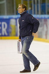Hannu Järvenpää, head coach of HDD Tilia Olimpija, during of ice-hockey match between Moser Medical Graz 99ers and HDD Tilia Olimpija in 11th Round of EBEL league, on October 14, 2011 at Eisstadion Graz-Liebenau, Graz, Austria. (Photo By Matic Klansek Velej / Sportida)