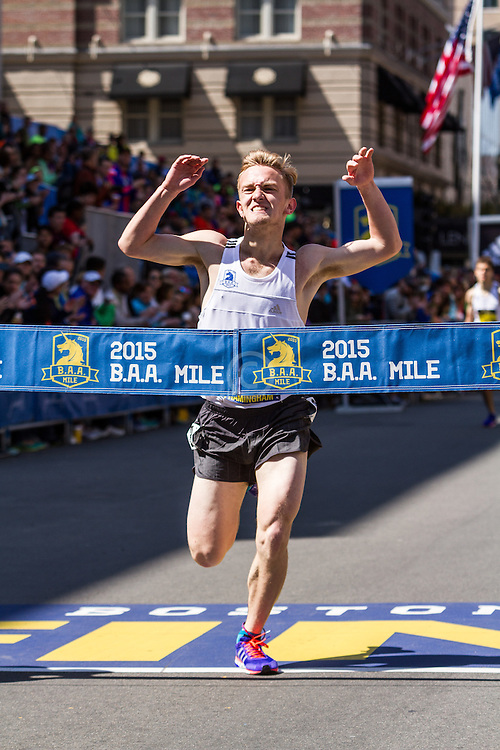 Boston Marathon: BAA Scholastic Mile, boys winner Mike McDonald