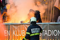 Pyro during football match between NK Maribor and NK Olimpija Ljubljana in 14th Round of Prva liga Telekom Slovenije 2018/19, on October 27, 2018 in Ljudski vrt , Maribor, Slovenia. Photo by Mario Horvat / Sportida