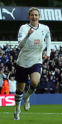 Roman Pavlyuchenko goal celebration. Tottenham Hotspur FC vs Blackburn Rovers FC Premier League 23/11/08.