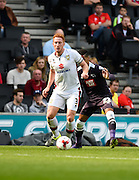 Milton Keynes Dons defender Dean Lewington during the Sky Bet Championship match between Milton Keynes Dons and Derby County at stadium:mk, Milton Keynes, England on 26 September 2015. Photo by David Charbit.