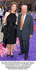 MR & MRS URS SCHWARZENBACH he is the multi millionaire polo patron, at a party in London on 18th May 2004.PUG 271