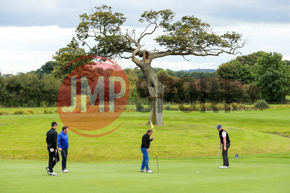 Tom Lockyerr of Bristol Rovers joins Team Rateavon as they take part in the annual Bristol Rovers Golf Day - Rogan Thomson/JMP - 10/10/2016 - GOLF - Farrington Park - Bristol, England - Bristol Rovers Golf Day.