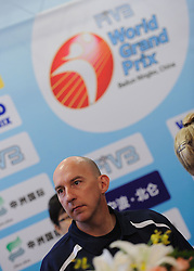 24-08-2010 VOLLEYBAL: WGP PRESS CONFERENCE AND TECHNICAL MEETING: BEILUN NINGBO<br /> Press conference with  Hugh McCutcheon USA<br /> ©2010-WWW.FOTOHOOGENDOORN.NL