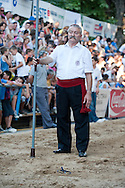 Bara, the first day of the Sinjska Alka (now in its 298th year), in Sinj, Croatia (2 August 2013). The Alka is a knightly tournament dating back to 1715, in which riders compete to spear a small metal ring from a galloping horse. The Alka is inscribed on the UNESCO list of Intangible Cultural Heritage.