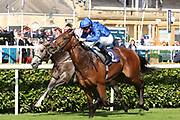 LAZULI (2) ridden by William Buick trained by Charlie Appleby and owned by Godolphin winning The British Stallion Studs EBF Conditions Stakes over 6f (£18,000)  during the opening day of the St Leger Festival at Doncaster Racecourse, Doncaster, United Kingdom on 11 September 2019.