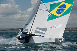 2012 Olympic Games London / Weymouth<br /> <br /> Star practice race<br /> StarFRARohart Xavier, PONSOT Pierre-Alexis