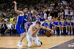 Miha Fon of Rogaska vs Gregor Hrovat #15 of KK Union Olimpija during basketball match between KK Union Olimpija and KK Rogaska in 2nd Final game of Liga Nova KBM za prvaka 2016/17, on May 19, 2017 in Hala Tivoli, Ljubljana, Slovenia. Photo by Vid Ponikvar / Sportida