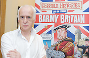 The Birmingham Stage Company's <br /> Launch of Horrible Histories' Barmy Britain!<br /> at The Garrick Theatre from February 14th 2012.<br /> <br /> Launch sponsored  by The Lord Plumb of Coleshill  <br /> at the House of Lords <br /> 2nd November 2011 <br /> London, Great Britain <br /> <br /> Horrible Histories author Terry Deary <br /> with an actor playing the role of Guy Fawkes in and around the Houses of Parliament.<br /> <br /> Photograph by Elliott Franks