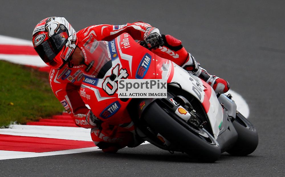 HERTZ BRITISH GRAND PRIX ..Andrea Dovizioso rides his Ducati riding in the Moto GP first free practice session..(c) STEPHEN LAWSON | SportPix.org.uk