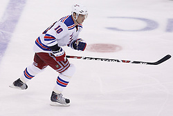 Oct 5, 2009; Newark, NJ, USA; New York Rangers right wing Marian Gaborik (10) skates during the second period at the Prudential Center.