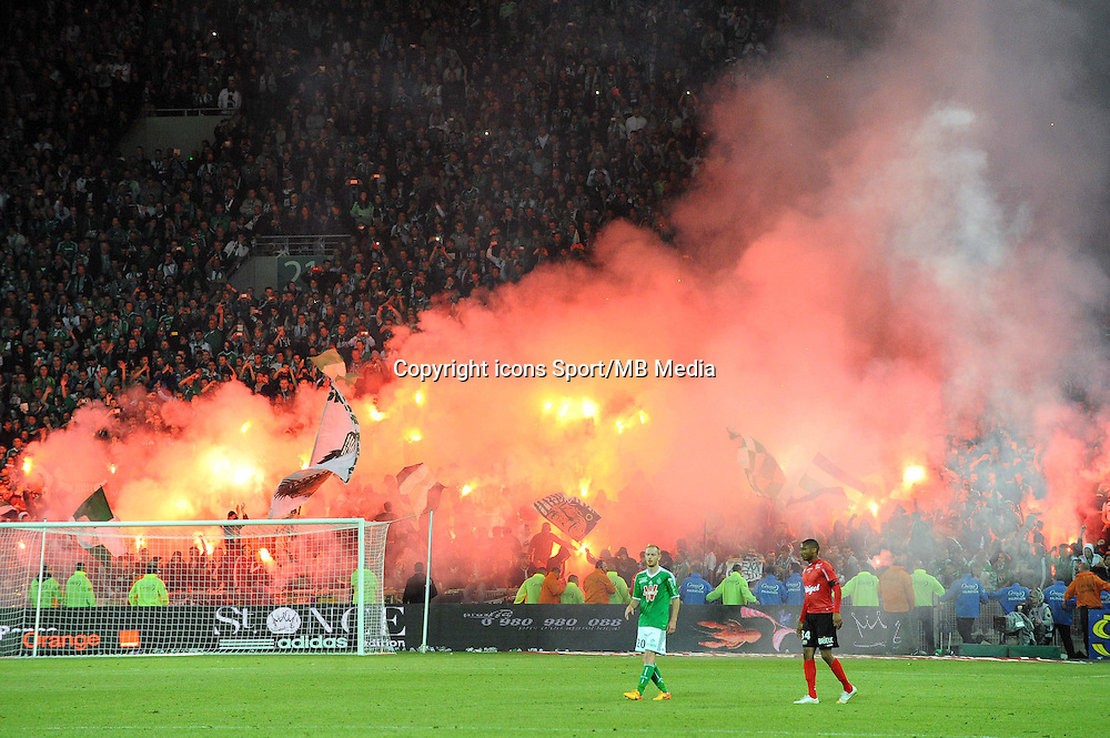 Supporters Saint Etienne - 23.05.2015 - Saint Etienne / Guingamp - 38e journee Ligue 1<br />Photo : Jean Paul Thomas / Icon Sport