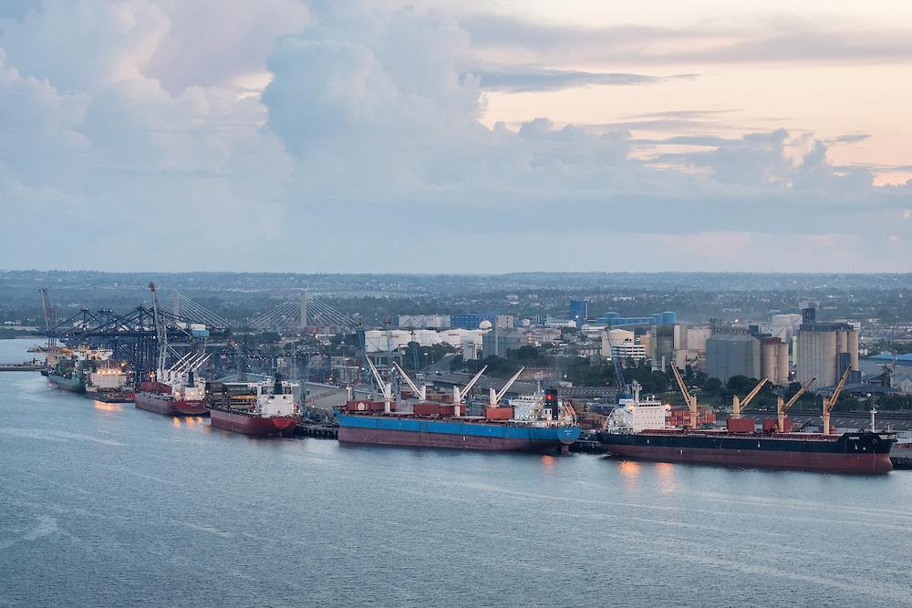 Dar es Salaam, Tanzania  - 12/9/16 - Overview of the port in Dar es Salaam in December, 2016.   Photo by Daniel Hayduk