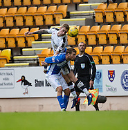 Dundee&rsquo;s Kevin Holt heads clear from St Johnstone&rsquo;s David Wotherspoon - St Johnstone v Dundee, Ladbrokes Scottish Premiership at McDiarmid Park, Perth. Photo: David Young<br /> <br />  - &copy; David Young - www.davidyoungphoto.co.uk - email: davidyoungphoto@gmail.com