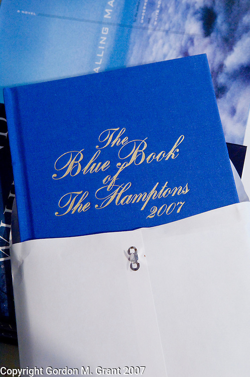 Southampton, NY - 7/25/07 - The Blue Book of The Hamptons, 2007, at Book Hampton on Main Street in Southampton, NY July 25, 2007.      (Photo by Gordon M. Grant)