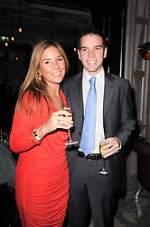 NATHALIE DAURIAC-STOEBE CEO of Signia Wealth and NICOLAS DAURIAC at a dinner hosted by Ruinart in honour of Amanda Wakely at The Connaught, Carlos Place, London on 20th October 2010.