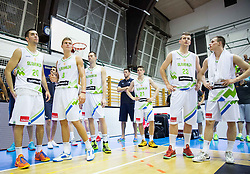 during friendly basketball match between National teams of Slovenia and Ukraine at day 3 of Adecco Cup 2014, on July 26, 2014 in Rogaska Slatina, Slovenia. Photo by Vid Ponikvar / Sportida.com