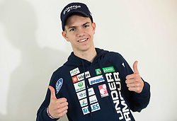 Žak Mogel during press conference of Slovenian Ski Jumping teams  before new season 2018/19, on November 13, 2018 in Gorenje shop, Crnuce, Ljubljana, Slovenia. Photo by Vid Ponikvar / Sportida