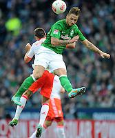 FUSSBALL   1. BUNDESLIGA  SAISON 2012/2013   6. Spieltag   SV Werder Bremen - FC Bayern Muenchen          29.09.2012 Marko Arnautovic (re, SV Werder Bremen) gegen Franck Ribery (li, FC Bayern Muenchen)