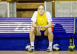 Lara Hrncic during practice session of Slovenian Women handball National Team three days before match against Serbia, on October 24, 2013 in Arena Tivoli, Ljubljana, Slovenia. (Photo by Vid Ponikvar / Sportida)