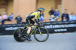 Simon Yates (GBR) Mitchelton-Scott on the San Luca climb during Stage 1 of the 2019 Giro d'Italia, an individual time trial running 8km from Bologna to the Sanctuary of San Luca, Bologna, Italy. 11th May 2019.<br /> Picture: Eoin Clarke | Cyclefile<br /> <br /> All photos usage must carry mandatory copyright credit (© Cyclefile | Eoin Clarke)