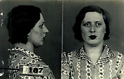 Prostitutes And Madams: Mugshots From When Montreal Was Vice Central<br /> <br /> Montreal, Canada, 1949. Le Devoir publishes a series of articles decrying lax policing and the spread of organized crime in the city. Written by campaigning lawyer Pacifique &lsquo;Pax&rsquo; Plante (1907 &ndash; 1976) and journalist G&eacute;rard Filion, the polemics vow to expose and root out corrupt officials.<br /> <br /> With Jean Drapeau, Plante takes part in the Caron Inquiry, which leads to the arrest of several police officers. Caron JA&rsquo;s Commission of Inquiry into Public Morality began on September 11, 1950, and ended on April 2, 1953, after holding 335 meetings and hearing from 373 witnesses. Several police officers are sent to prison.<br /> <br /> During the sessions, hundreds of documents are filed as evidence, including a large amount of photos of places and people related to vice.  photos of brothels, gambling dens and mugshots of people who ran them, often in cahoots with the cops &ndash; prostitutes, madams, pimps, racketeers and gamblers.<br /> <br /> Photo shows: Blanche Martin, 1940. Blanche Martin, a maid arrested on May 8, 1940 for running a brothel<br /> &copy;Archives de la Ville de Montr&eacute;al/Exclusivepix Media