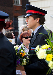 © Licensed to London News Pictures. 11/09/2011. London, UK. Fire cadets. Remembering with Hope. A special service at St Paul's Cathedral to mark the 10th anniversary of the 9/11 attacks in the US and the 20th anniversary of the Firefighters Memorial Trust.  Photo credit: Bettina Strenske/LNP