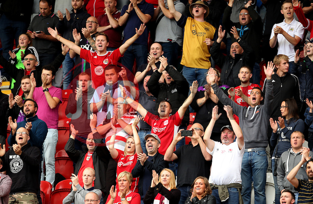 Bristol City fans - Mandatory by-line: Matt McNulty/JMP - 10/09/2016 - FOOTBALL - Aesseal New York Stadium - Rotherham, England - Rotherham United v Bristol City - Sky Bet Championship