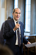 Grad Fair<br /> <br /> Executive Vice Provost David Nirenberg speaks to the faculty<br /> <br /> (photo by Anne Ryan)