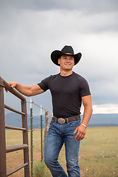 cowboy enjoying time on a ranch