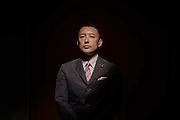 Tokyo, Japan, June 28 2016 - Portrait of Japanese politician Taro YAMAMOTO.