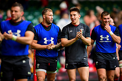 Ross Moriarty and Josh Adams during the training session - Photo mandatory by-line: Ryan Hiscott/JMP - 29/10/2018 - RUGBY - Principality Stadium - Cardiff, Wales - Autumn Series - Wales Rugby Open Training Session