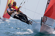 Howard Steavenson and Peter Nicholson during the 2008 POW Cup Race at Weymouth