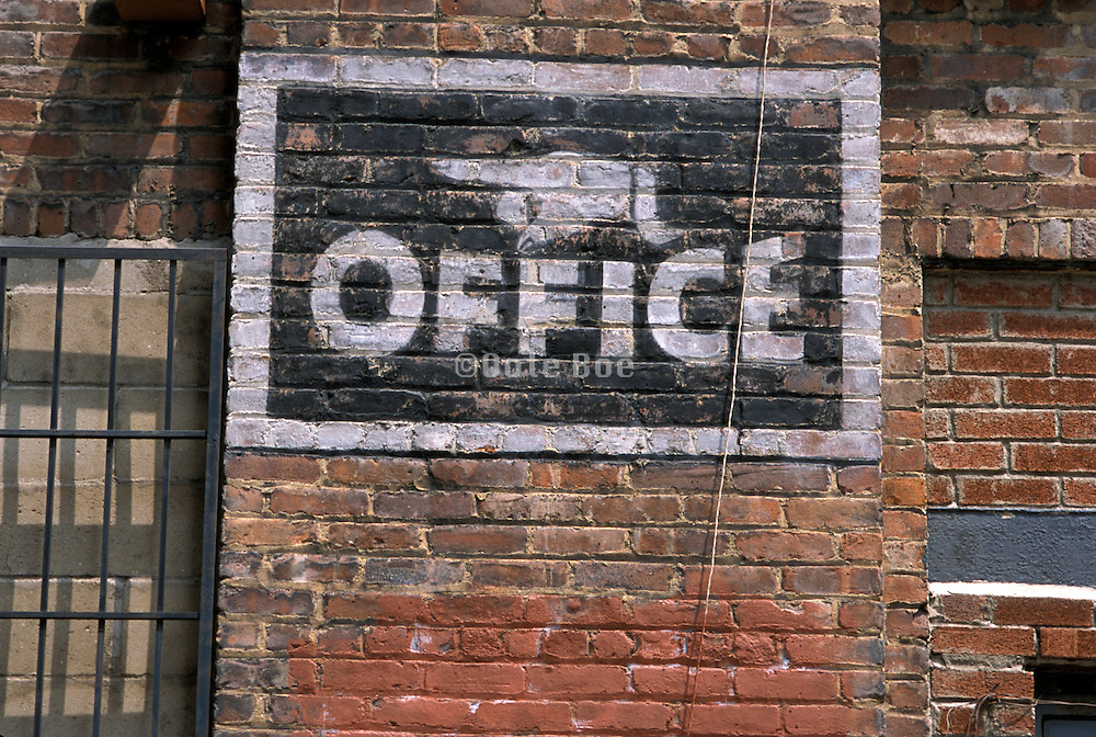 Antique office sign