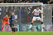 Tottenham Hotspur defender Jan Vertonghen (5) defends and heads a ball during the Champions League group stage match between Tottenham Hotspur and Inter Milan at Wembley Stadium, London, England on 28 November 2018.