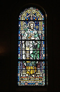 From the Cathedral of Christ the King, a stained glass window showing St. Joseph.<br />