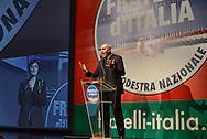 Roma 26  Gennaio 2013.Il partito di centro destra Fratelli d Italia apre la campagna elettorale. Guido Crosetto.Rome January 26, 2013.The new center-right party: Brothers of Italy opens the campaigning