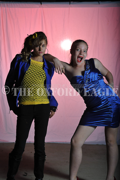 Madison Colston (left) and Lucy Hurdle pose as Modonna on Halloween in Oxford, Miss. on Wednesday, October 31, 2012.