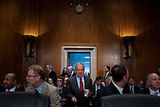 """Former U.S. Secretary of Labor ROBERT REICH arrives to testify before the Senate Health, Education, Labor and Pensions Committee hearing on """"The Endangered Middle Class: Is the American Dream Slipping Out of Reach for American Families?"""".REICH is professor of public policy in the University of California Berkeley's Goldman School of Public Policy."""