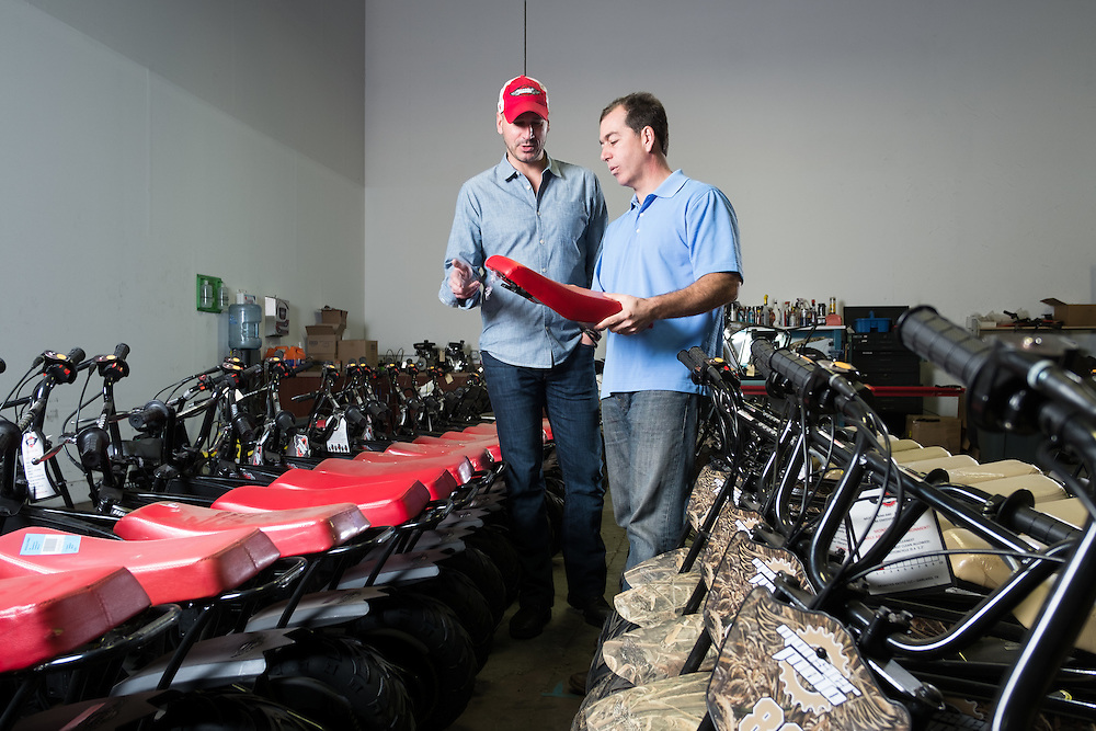 01/14/2016 124320 -- Garland, TX -- &copy; Copyright 2016 Mark C. Greenberg<br /> <br /> CEO Alex Keechle and President and COO Rick Sukkar of Garland, Texas based Monster Moto.
