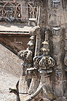 cathedral details in sevilla, spain