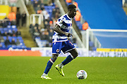 Andy Yiom (17) of Reading on the ball during the EFL Sky Bet Championship match between Reading and Luton Town at the Madejski Stadium, Reading, England on 9 November 2019.
